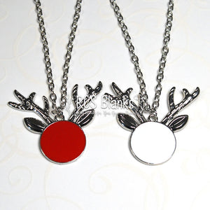 Reindeer Enamel Necklace