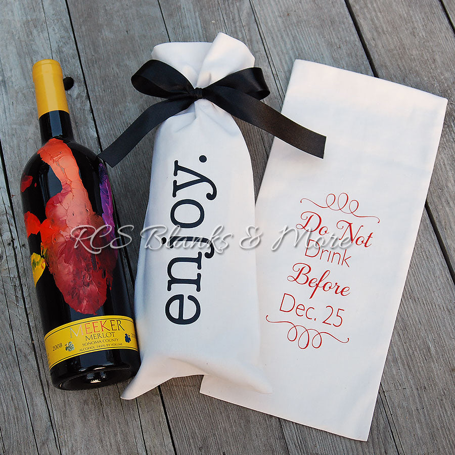 cotton wine bottle gift bag  u2013 rcs blanks  llc