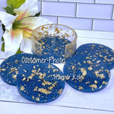 Round Coaster Set Silicone Molds