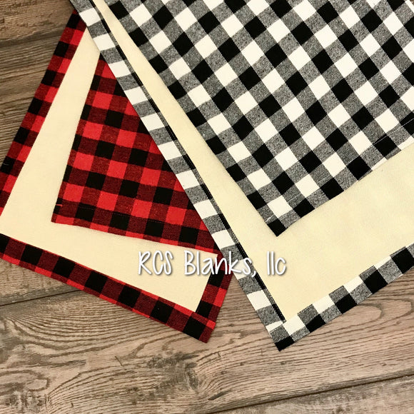Cabin Classic Burlap & Buffalo Plaid Table Runner