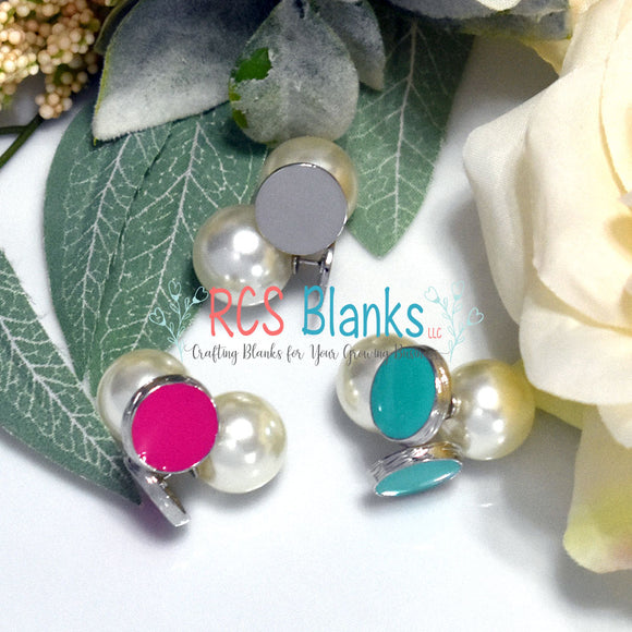 Peek-A-Boo Enamel & Pearl Earrings