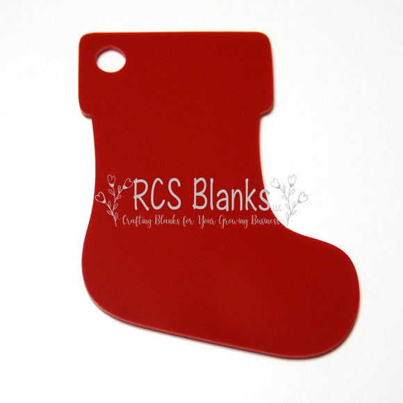 Red Stocking Acrylic Christmas Ornament
