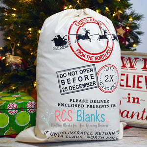 Flying Sleigh Santa Sack