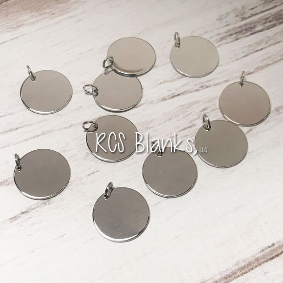 Silver Disc Charm Add-On - Pack of 10