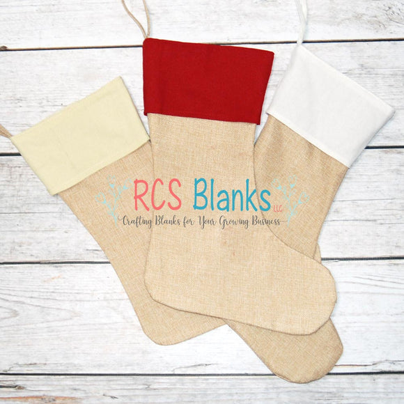 Burlap & Cotton Stockings