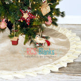 Cream Ruffle Burlap Tree Skirt