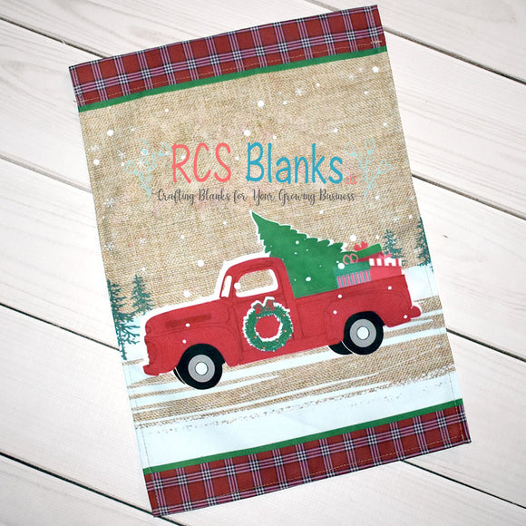 Red Truck Christmas Garden Flag