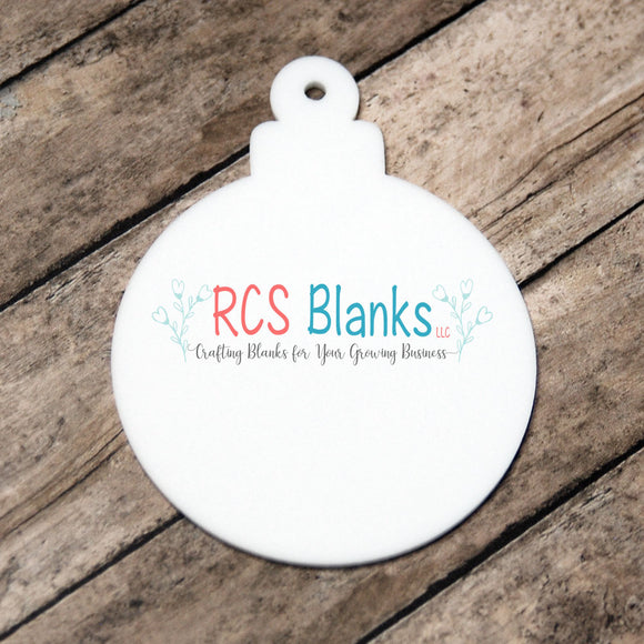 White Acrylic Christmas Ball Ornament