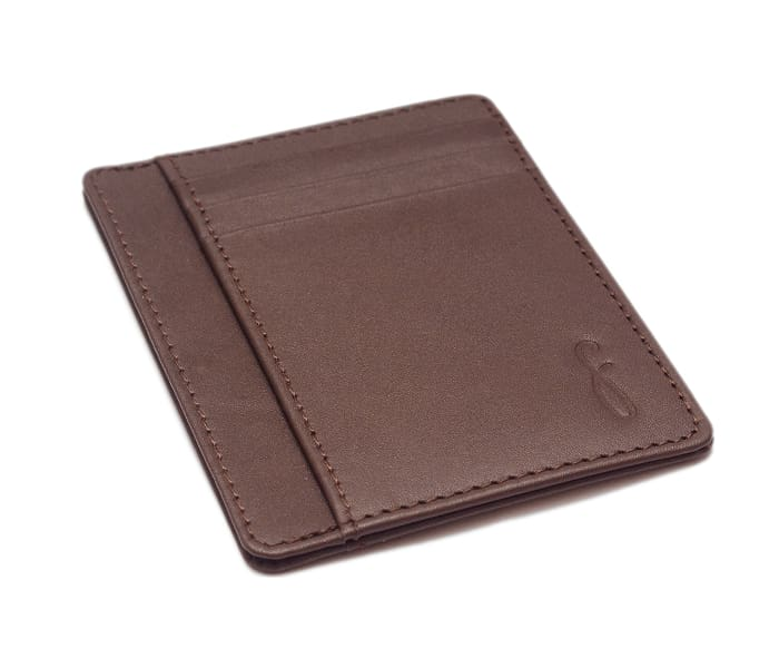 Alexis Leather Card Holder - Brown - CardHolders