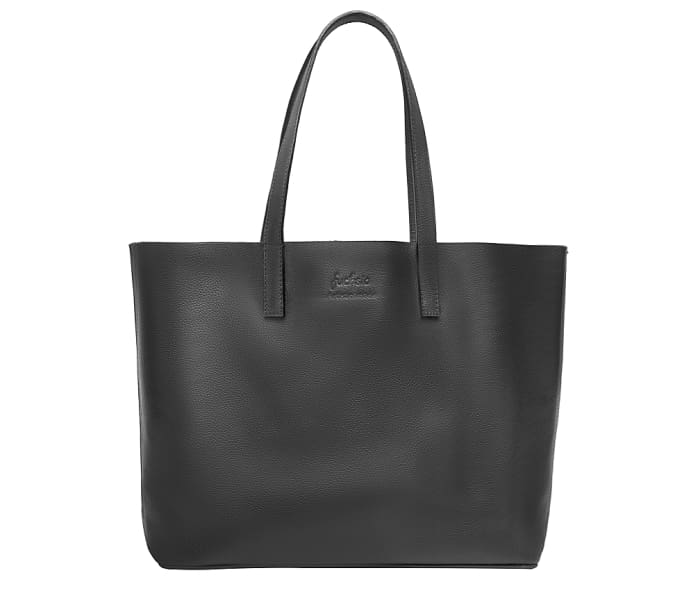 Black Leather Tote Bag - Handbags
