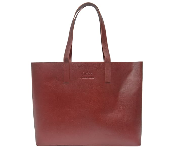 Brown Leather Tote Bag - Handbags