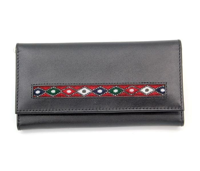 Peony Embroidered Wallet - Clutches