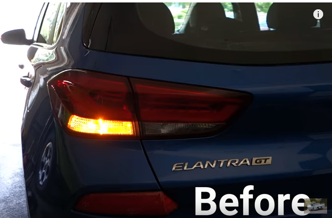 Hyundai Elantra rear turn signal light