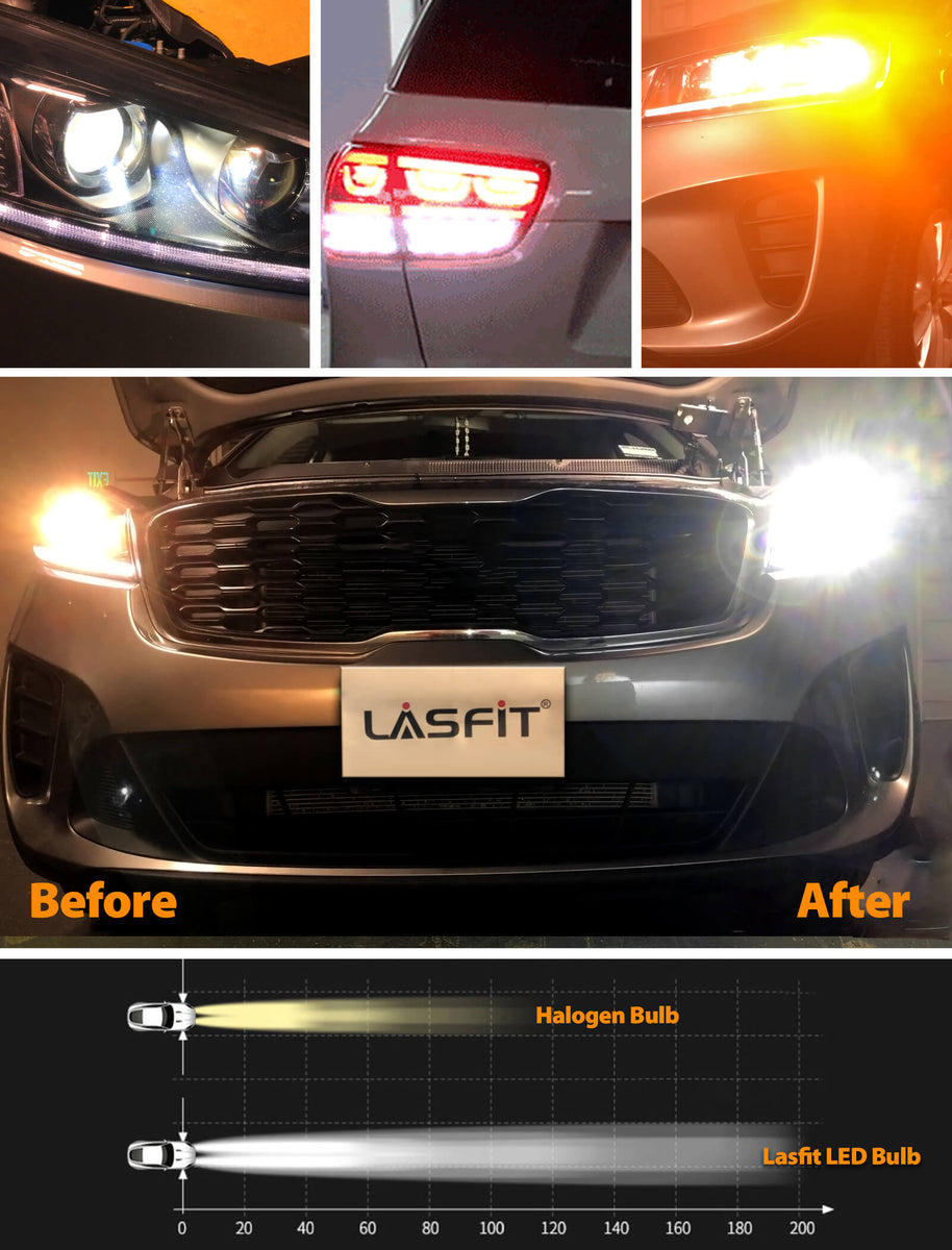 custom sorento h7 led bulbs