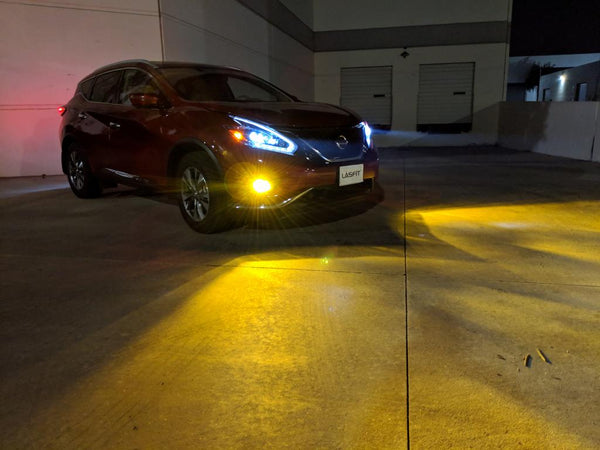 2018 nissan murano fog light amber yellow