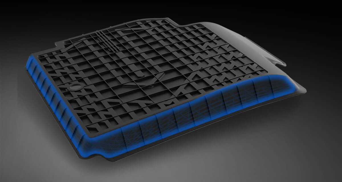 Net structure/ raised anchor of Lasfit floor liners