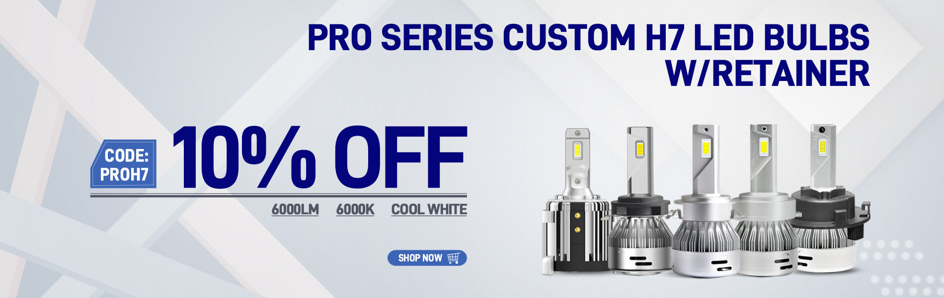 Lasfit Pro Series Custom H7 LED Bulbs Limited Time Offer
