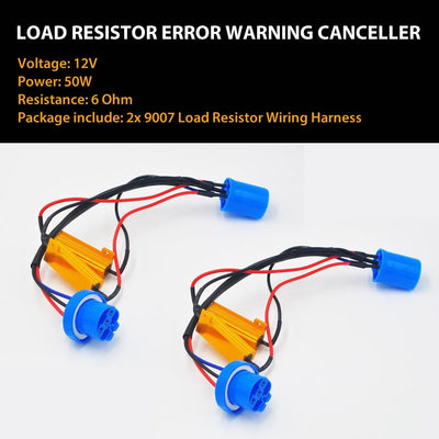 2x 9007 HB5 LED Headlight Bulb Resistor Canbus Error Free Anti Flicker Canceller