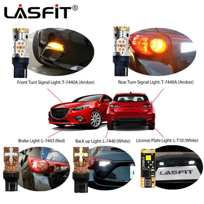 LED Headlight Bulbs Exterior Interior Lights For 2015 Mazda 3 Hatchback Sport