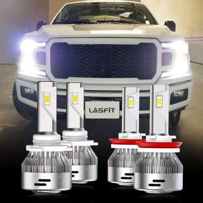 2018-2019 Ford F150 LED Headlight Combo Bulbs Replacement LASFIT