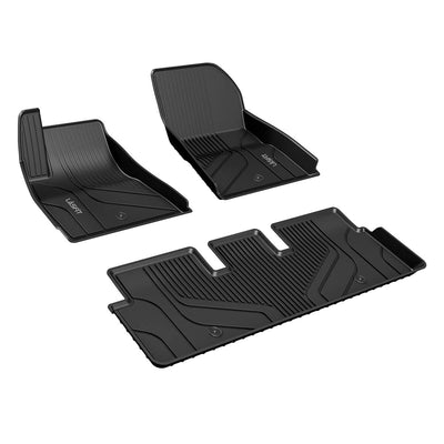 2017-2020 Tesla Model 3 Front & 2nd Row Seat Floor Mats All Weather TPE Liners