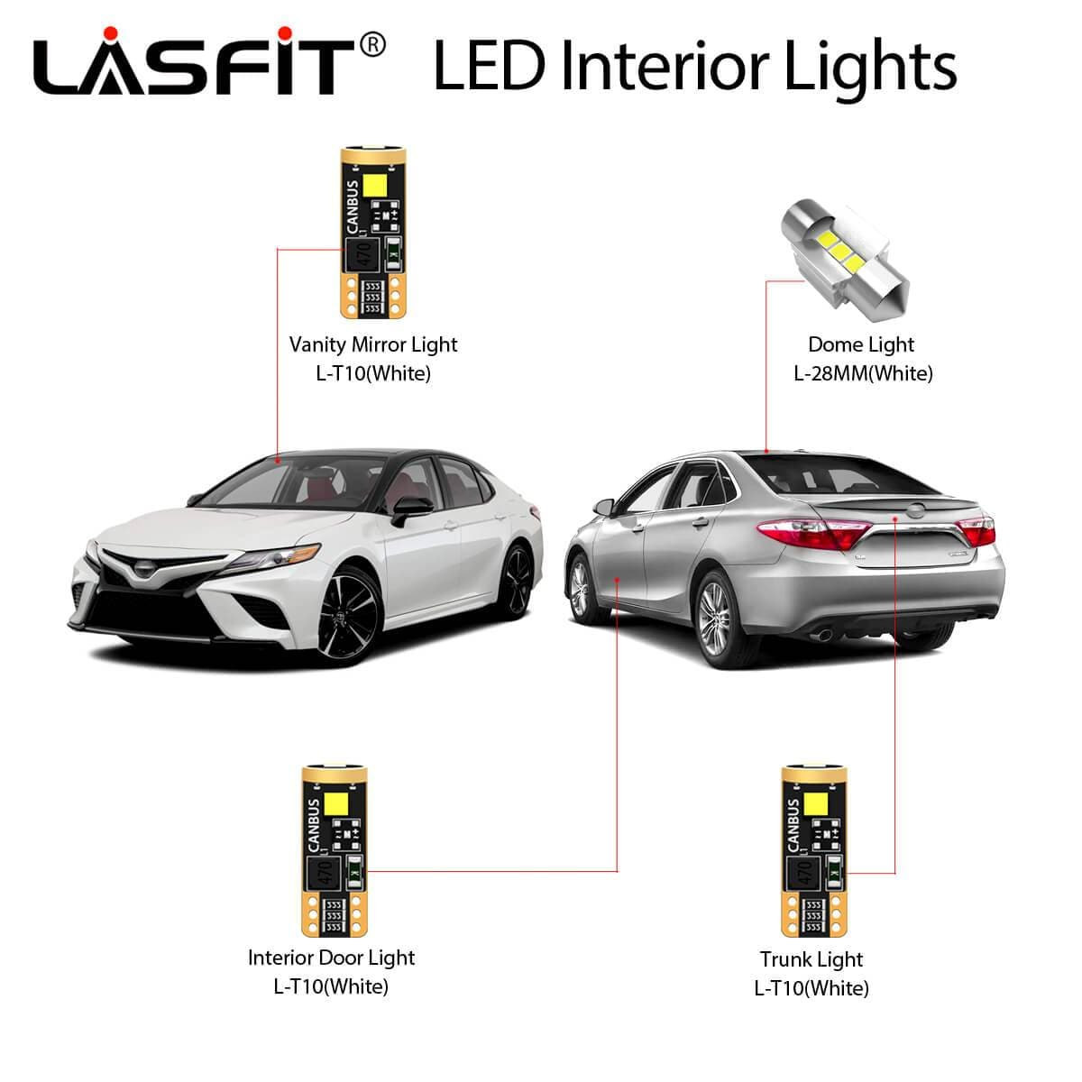 2018 2019 2020 Toyota Camry Led Exterior Interior Light Bulbs Lasfit