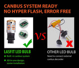 LASFIT 3156 3056 3456 4156 LED Turn Signal Lights  Anti Hyper Flash Built-in CANBUS