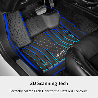 2017-2020 Lincoln MKZ Front & 2nd Seat Floor Mats All Weather TPE Liners