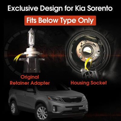 plug and play h7 led headlight bulbs fit Kia Sorento