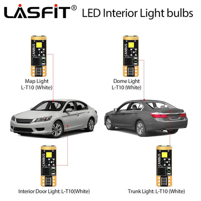 LED Bulb Guide For Honda Accord 2013-2015 LASFIT
