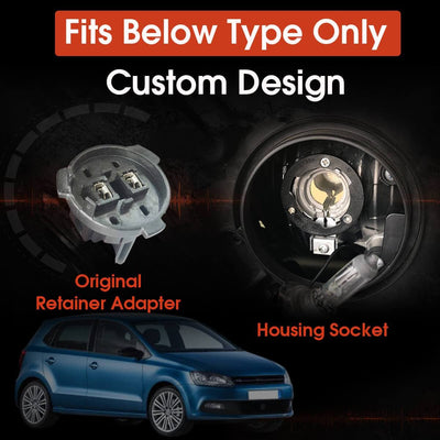 Custom H7 LED Headlight Bulbs fit VW Polo MK5 Touran Plug and Play Pro-VW8