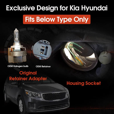 how to install h7 led bulb and adapter on Kia Sedona