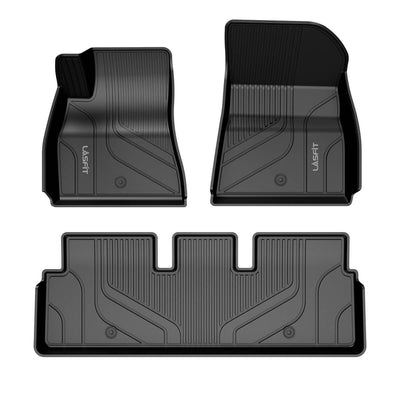 2017-2020 Tesla Model 3 Floor Mats Front & 2nd Row Seat All Weather TPE Floor Liners