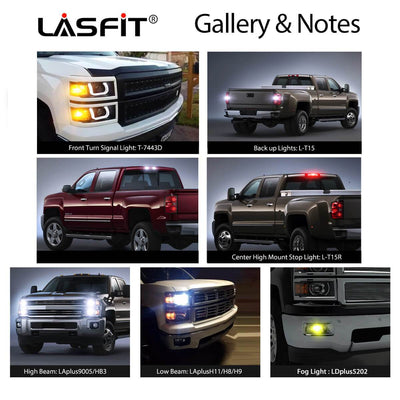 2014-2019 Chevy Silverado 1500 LED Lights Performance LASFIT
