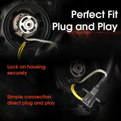 Direct plug and play h7 led headlight bulb adapter