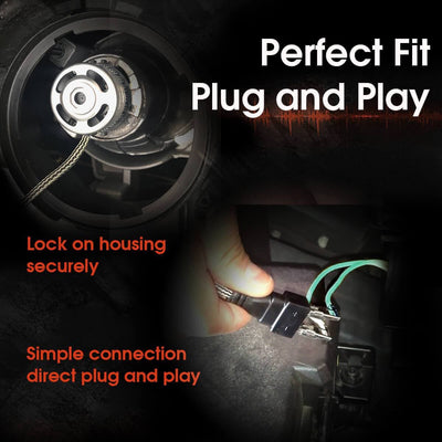 plug and play H7 led headlight bulb adapter