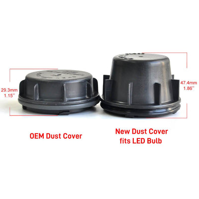 Hyundai Azera Sonata LED Headlight Bulb Dust Cover Seal Cap Waterproof OEM Design