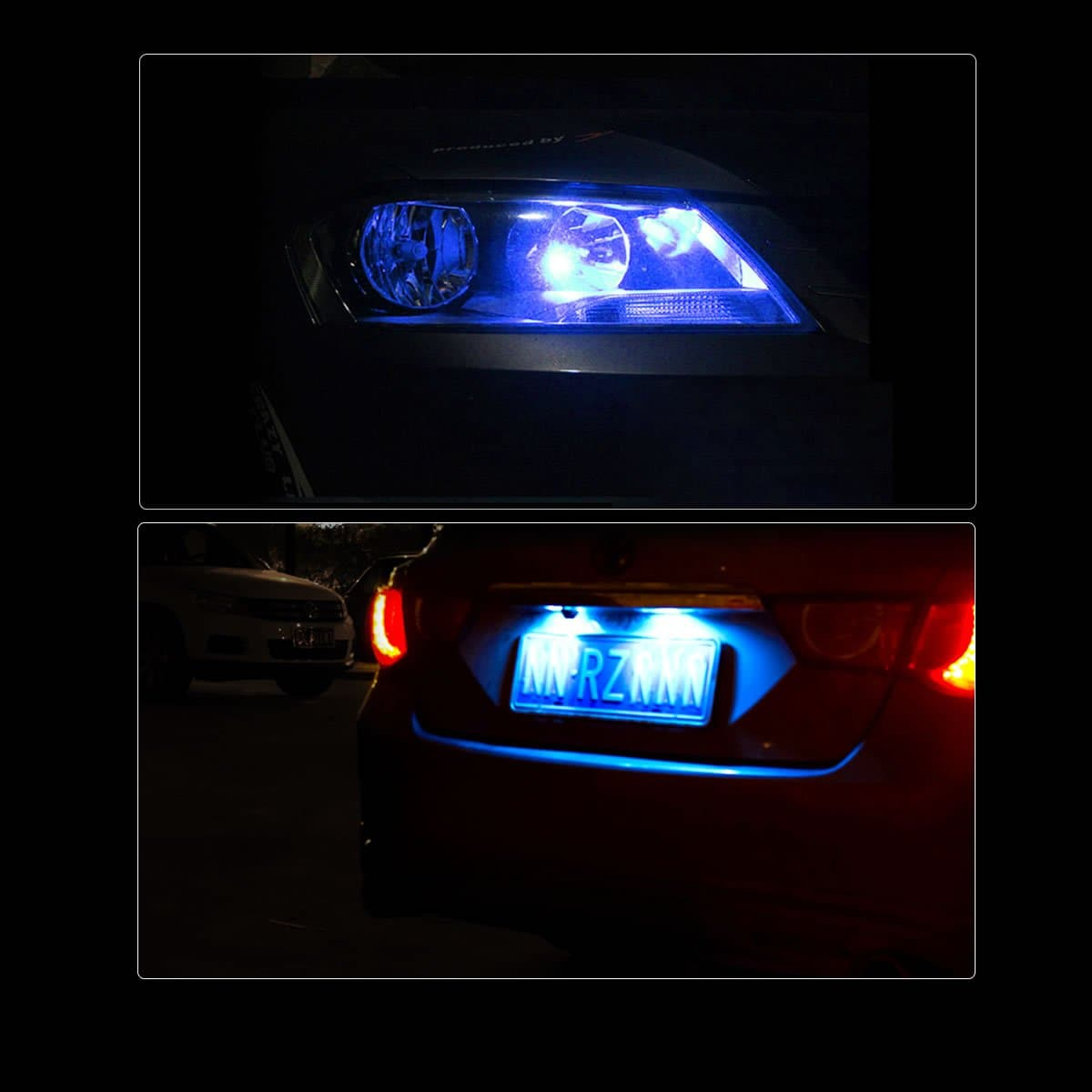 194 168 158 2825 Led Interior Door Map Trunk Step Well Lights Cool Blue