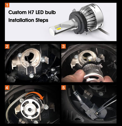 Ford Fusion 2011 led headlight bulb install guide