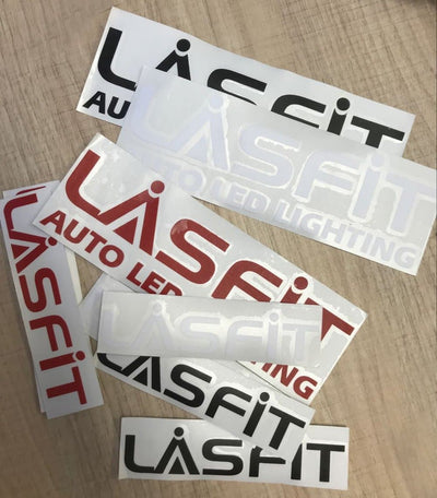 LASFIT 18CM White Waterproof Stickers for Car