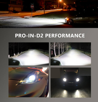 Pro Series D2S D2R for Nissan Infiniti HID to LED Bulb Conversion Kits, Plug and Play