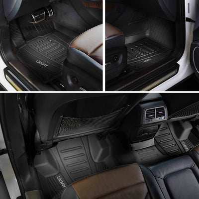 2016-2019 Audi Q7 Front & 2nd Row Seat Floor Mats All Weather TPE Liners