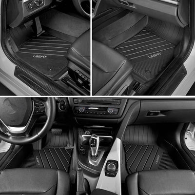 2013-2018 BMW 3 Series 1st & 2nd TPE Floor Liners All Weather Black
