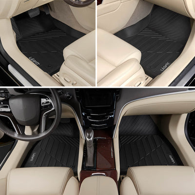 2013-2019 Cadillac XTS 1st & 2nd TPE Floor Liners All Weather Black