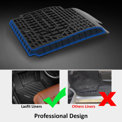 2017-2019 BMW 5 Series 1st & 2nd TPE Floor Liners All Weather Black