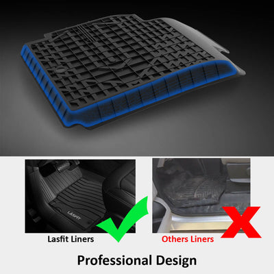 Tesla Model Y 2020 2021 Custom Floor Mats TPE Material 1st & 2nd Row Seat