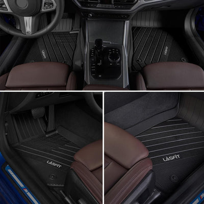2019-2021 BMW 3 Series New 1st & 2nd TPE Floor Liners All Weather Black