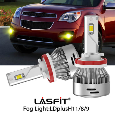 Switchback LED Fog Light Bulbs Fit 2010-2015 Chevy Equinox White and Yellow Light LASFIT