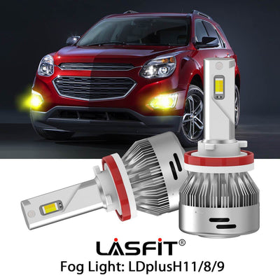 Switchback LED Fog Light Bulbs Fit 2016-2017 Chevy Equinox White and Yellow Light LASFIT