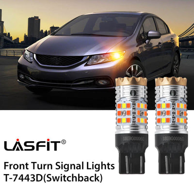 Error Free LED Turn Signal Light Fit 2014-2015 Honda Civic LASFIT